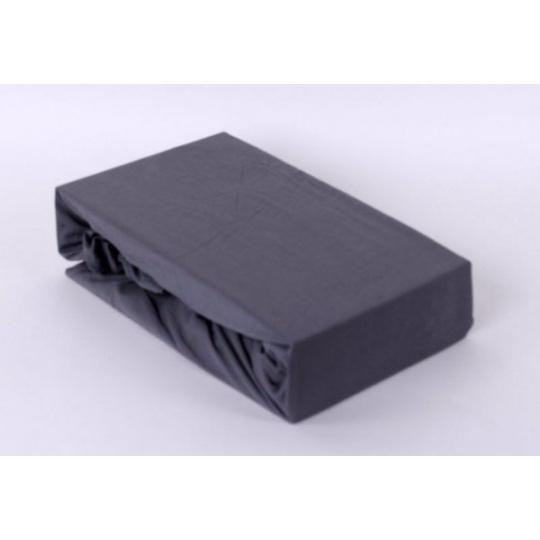 Exclusive Jersey prostěradlo - šedá 160x200 cm  varianta šedá