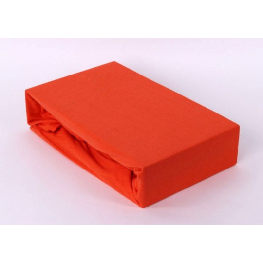Exclusive Jersey prostěradlo dvoulůžko - oranžová 200x220 cm  varianta oranžová