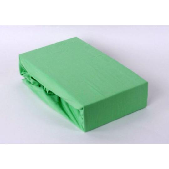 Exclusive Jersey prostěradlo dvoulůžko - zelená 180x200 cm  varianta zelená