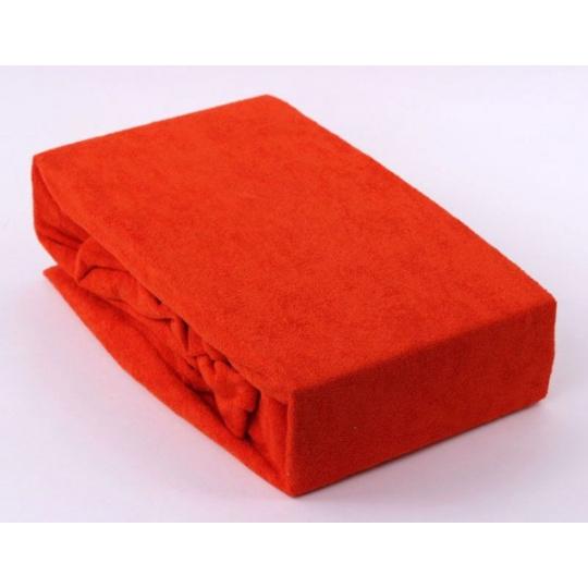Froté prostěradlo dvoulůžko Exclusive - oranžová 160x200 cm  varianta oranžová