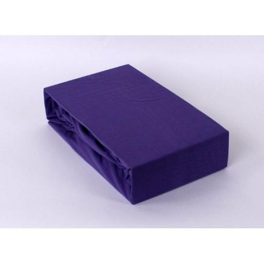 Exclusive Jersey prostěradlo dvoulůžko - fialová 180x200 cm varianta fialová