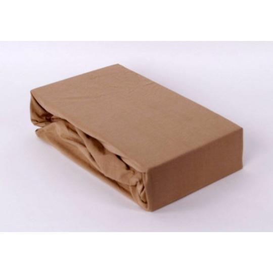 Jersey prostěradlo Exclusive - bežová 140x200 cm varianta bežová