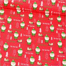 Vánoční vzory bavlněné látky, metráž vzor 1408