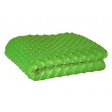 Minky 380 látky mikroplyš puntík  barva zelená