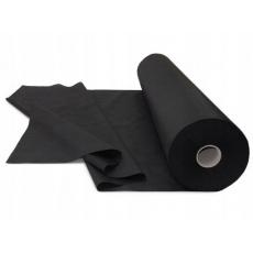 Jednobarevná bavlněná látka černá 170 gr/m2