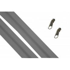 Zip spirálový grafit 5 mm metráž