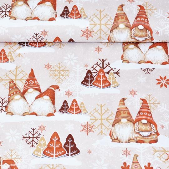 Vánoční vzory bavlněné látky, metráž vzor 1449