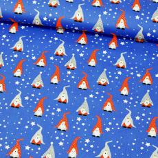 Vánoční vzory bavlněné látky, metráž 001