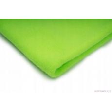 Látka Microfleece barva neon zelená 49