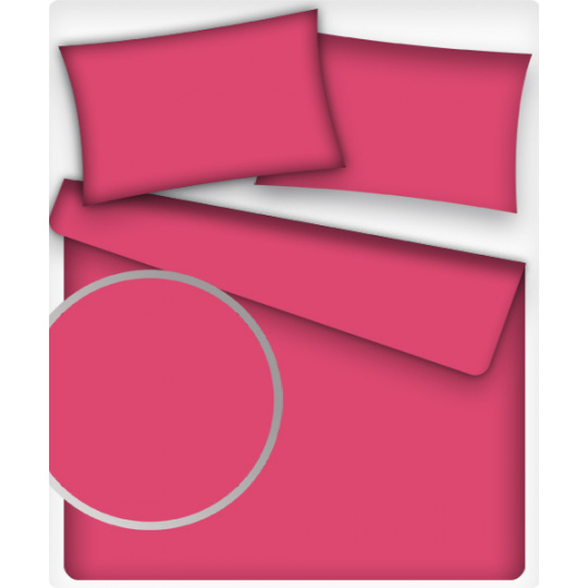 Jednobarevná bavlněná látka barva MALINOVÁ 30