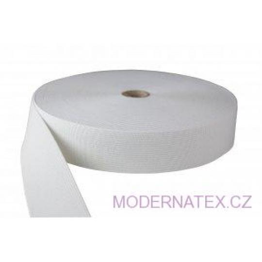 Guma  pro šití oděvu  šíře 40 mm bílá  balení 25 m