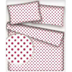 3 mm Bavlněné látky PUNTÍK AMARANT na bílém