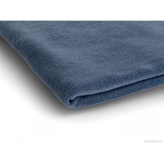 Látka Micro fleece barva jeans 16