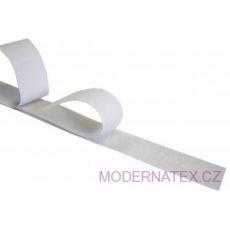 Pásek na suchý zip s lepidlem bílý 50  mm