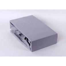 Exclusive Jersey prostěradlo dvoulůžko - šedá 180x200 cm  varianta šedá