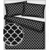 Bavlněná látka vzor marokko, barva černá 279