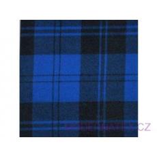 Flanelová látka černé-modrá 8x8 cm 784  šíře 160 cm