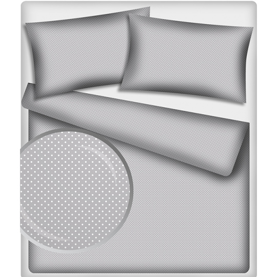 4 mm Bavlněné látky vzor Puntík  šedý podklad