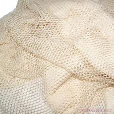 Síť bavlněná, bavlna 100% střední oko 3x6 mm
