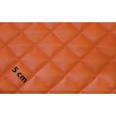 Ekokůže barva pomerančová prošívaná