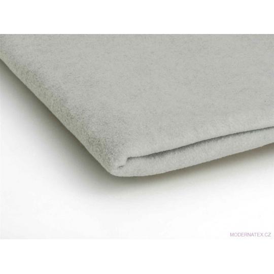 Látka Micro fleece barva sv. šedý melánž 7
