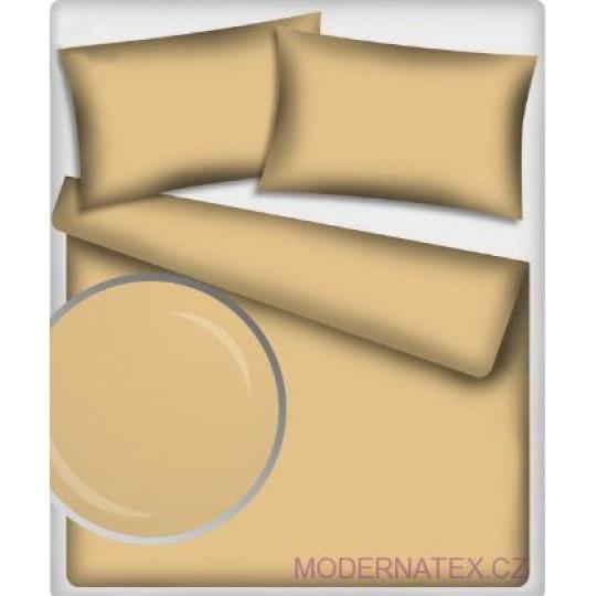 Jednofarebná bavlnená látka, farba béžová 518, metráž 160 cm