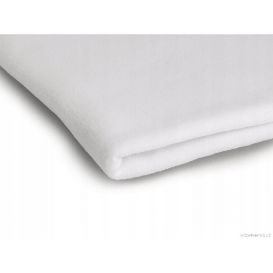 Látka Micro fleece barva bílá 01