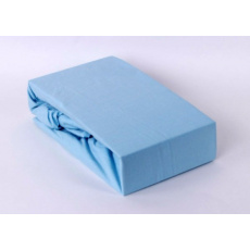 Exclusive Jersey prostěradlo jednolůžko - modrá 90x200 cm  varianta modrá