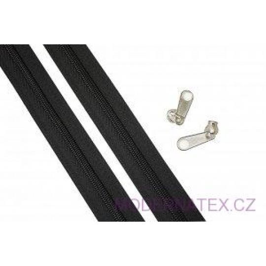 Zip spirálový černý 10 mm metráž