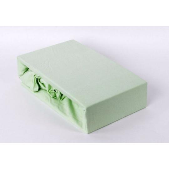 Exclusive Jersey prostěradlo jednolůžko - zelená 90x200 cm varianta zelená světla