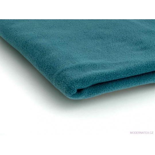 Látka Micro fleece barva tyrkys 36