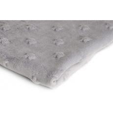 Minky látky mikroplyš hvězdy barva šedá
