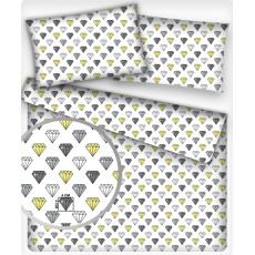 Bavlněné dekorační látky vzor PADÁK žlutý