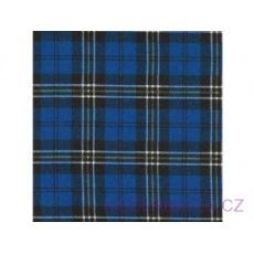 Flanelová látka modrá 8x8 cm 754  šíře 160 cm