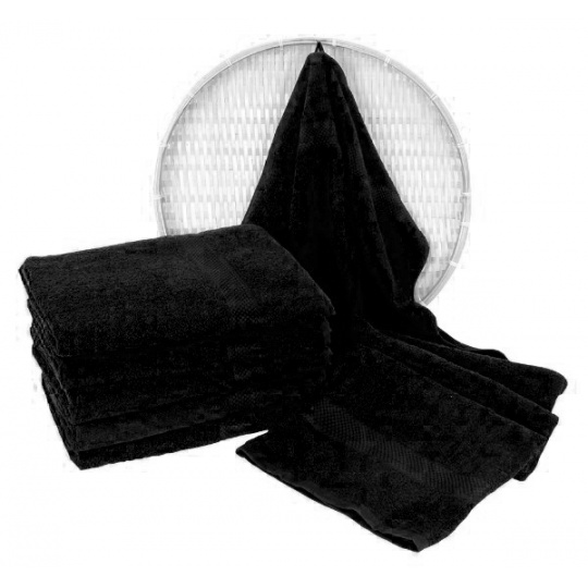 Darsi froté ručník 50x100 cm barva černá