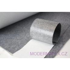 Samolepicí technický filc 4,5 mm barva šedá