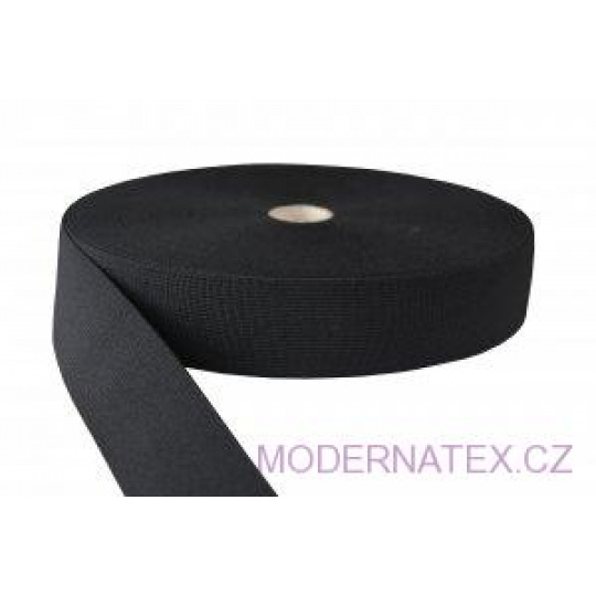 Guma pro šití oděvu  šíře 40 mm černá  balení 25 m