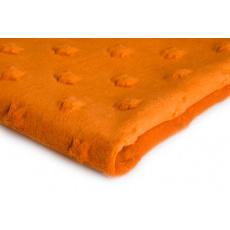 Látky mikroplyš hvězdy MINKY barva pomerančová 26