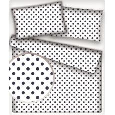 7 mm Bavlněná látka Puntík Granatový bílé plátno
