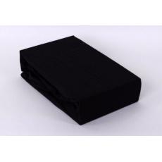 Exclusive Jersey prostěradlo dvoulůžko - černá 180x200 cm  varianta černá