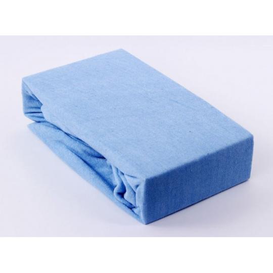 Exclusive Froté prostěradlo dvoulůžko - modrá 200x220 cm  varianta modrá