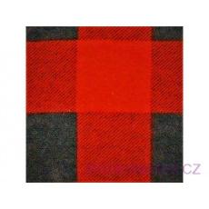 Flanelová látka černé-červená 4x4 cm 763 šíře 160 cm