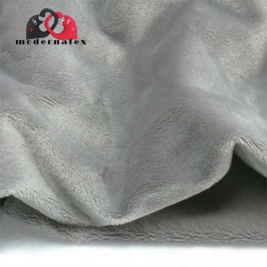 Minky mikroplyš jednobarevné barva sv..šedá