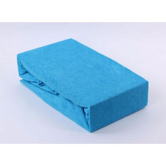 Exclusive Froté prostěradlo dvoulůžko - modrá 180x200 cm varianta modrá