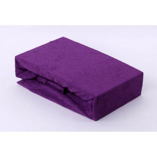 Exclusive Froté prostěradlo dvoulůžko - fialová 160x200 cm