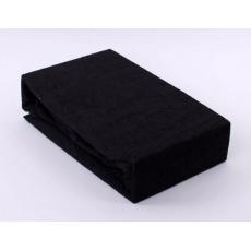 Froté prostěradlo dvoulůžko Exclusive - černá 180x200 cm varianta černá