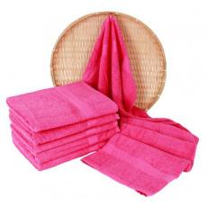 Darsi froté ručník 50x100 cm barva růžová