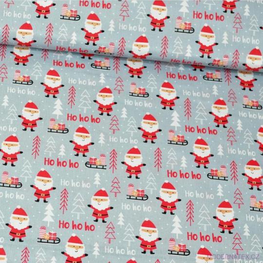 Vánoční vzory bavlněné látky, metráž vzor 1409