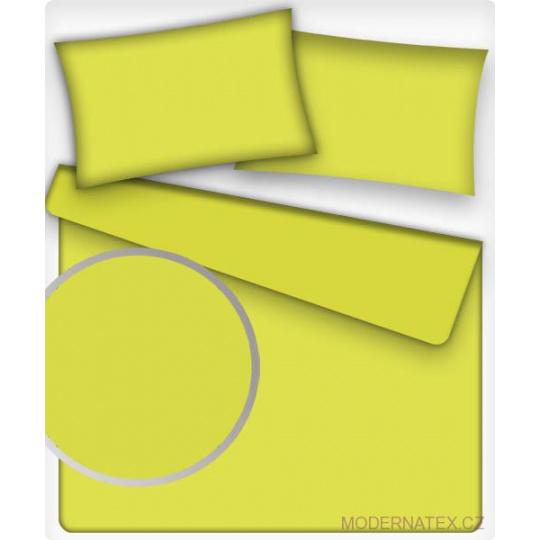 Jednobarevná bavlněná látka barva CITRON 39