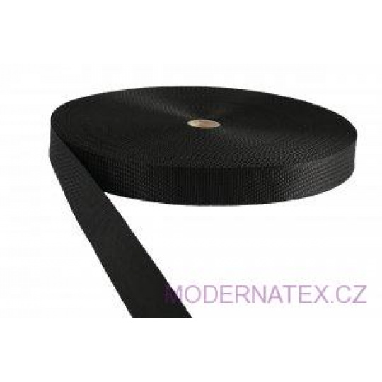 Polypropylénový popruh 30 mm černý (balení 50 m)